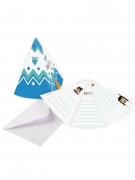 8 Cartons d'invitations avec enveloppe Tippie des tribus