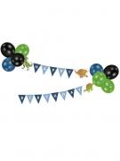 Guirlande avec ballons Happy Birthday Grands Dinosaures 2 m