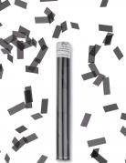 Canon à confettis rectangle noir 27 cm