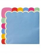 16 Serviettes en papier festonnées Mexican party 33 x 33 cm