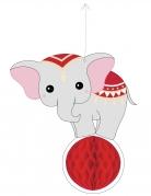 Eléphant en papier alvéolé Vintage Circus 25 cm