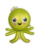 Ballon aluminium octopus vert mignon 65 x 89 cm