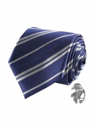 Réplique cravate deluxe avec pin's Serdaigle Harry Potter™