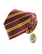 Répilque cravate deluxe avec pin's Gryffondor Harry Potter™