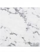 16 Serviettes en papier Marbre blanc et doré 33 x 33 cm