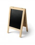 Double ardoise sur pieds en bois 32 x 20 cm