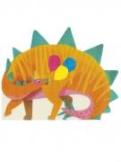 16 Serviettes en papier forme dinosaure orange
