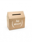 Urne en carton kraft just married 30 x 30,5 x 16,5 cm