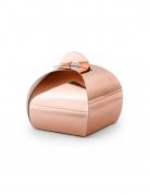 10 Boîtes en carton rose gold métallisées 6 x 5,5 cm
