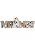 Décoration en bois Mr & Mrs 32,5 cm