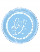 Ballon aluminium It's a boy bleu 45 cm
