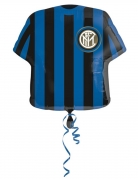 Ballon aluminium maillot de foot Inter™ 60 cm
