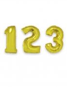 Ballon aluminium chiffre doré 1 m