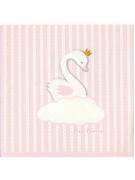 20 Serviettes en papier cygne rose 33 x 33 cm