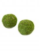 2 Boules de mousse naturelle vertes 7 cm
