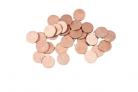 24 Confettis de table ronds rose gold 1,2 cm