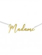 Décoration de chaise Madame dorée métallisée 25 x 8,5 cm