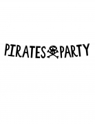 Guirlande en carton pirates party noire 14 cm x 1 m