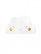 20 Serviettes en papier en forme de nuage blanc 32 x 19 cm