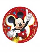 8 Assiettes en carton Mickey copains de jeux™ 23 cm