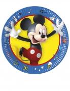 8 Petites assiettes en carton Mickey copains de jeux™ 20 cm
