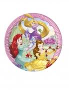 8 Assiettes en carton Princesses Disney™ cœurs 23 cm