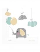 20 Serviettes en papier bébé Eléphant 33 x 33 cm