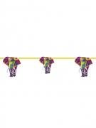 Guirlande en carton éléphant multicolore 2 m