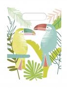 6 Sacs de fête en plastique Toucan tropical