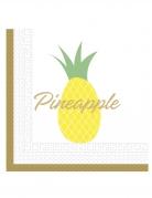 20 Serviettes en papier ananas 33 x 33 cm