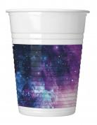8 Gobelets en plastique galaxy party 200 ml