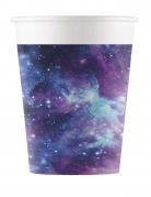 8 Gobelets en carton galaxy party 200 ml