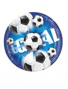 10 Assiettes en carton football goal 23 cm