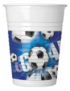 10 Gobelets en plastique football goal 200 ml