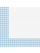 20 Serviettes en papier vichy bleu ciel et blanc 33 x 33 cm