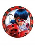 8 Petites assiettes en carton Miraculous Ladybug™ 20 cm