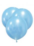 5 Ballons géants en latex bleus 47 cm