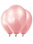 12 Ballons métallisés rose gold 28 cm