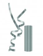 Rouleau de serpentins métalliques argentés
