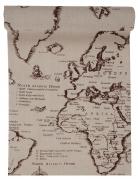 Chemin de table en coton carte de voyage 28 cm x 3 m