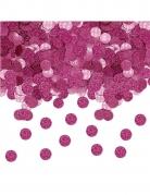 Confettis de table ronds pailletés fuchsia 20 gr