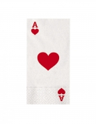 16 Serviettes en papier big poker 40 x 33 cm