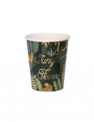 8 Gobelets en carton jungle fever 250 ml