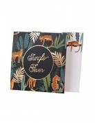 8 Invitations en carton jungle fever 14 cm