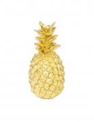 Ananas décoratif en résine doré 18 cm