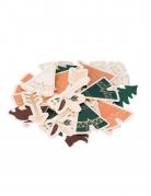 100 Confettis de table indian forest de 3 à 5 cm