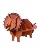 Présentoir en carton dinosaure 3D kraft et marron 55,5 x 32 x 24,5 cm