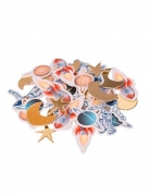 100 Confettis en carton astronautes avec dorure 2 à 4 cm