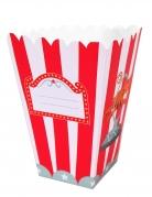 12 Boîtes à pop corn en carton circus 12 x 5 x 5 cm