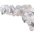 Arche de 65 ballons étoilée argentée